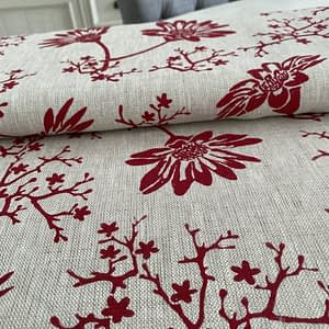 Screen Printed Organic Linen Fabric